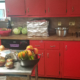 Photo of Nicole Sauce's messy kitchen
